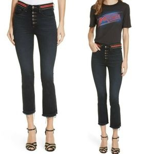 Veronica Beard Jeans - Veronica Beard Carolyn Crop Flare Boot Jeans Dark
